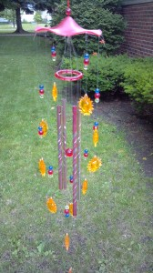 My Sunshine Wind Chimes. It would be lovely to drink coffee and sit on the porch and listen to these early in the mornings.