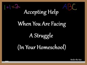 Facing a struggle in your homeschool