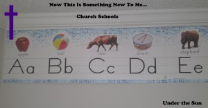 Now This Is Something New To Me... Church Schools