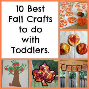 10 Best Fall Crafts to do with Toddlers- Diapers and Daisies