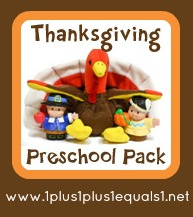 Thanksgiving Preschool Pack 1+1+1=1