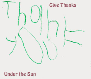 A thank you card I had my 4-year old write.
