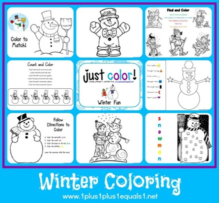 Winter Themed Printables