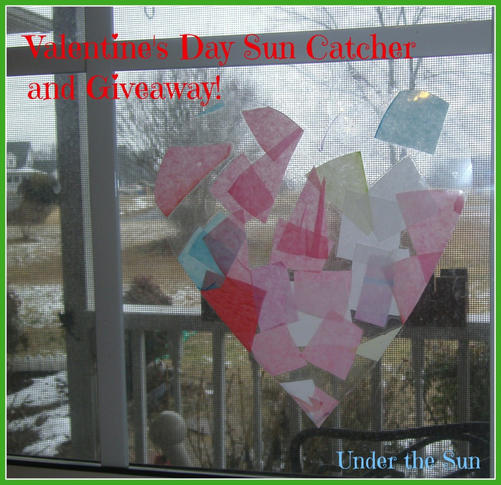 Valentine's Day Sun Catcher and Giveaway