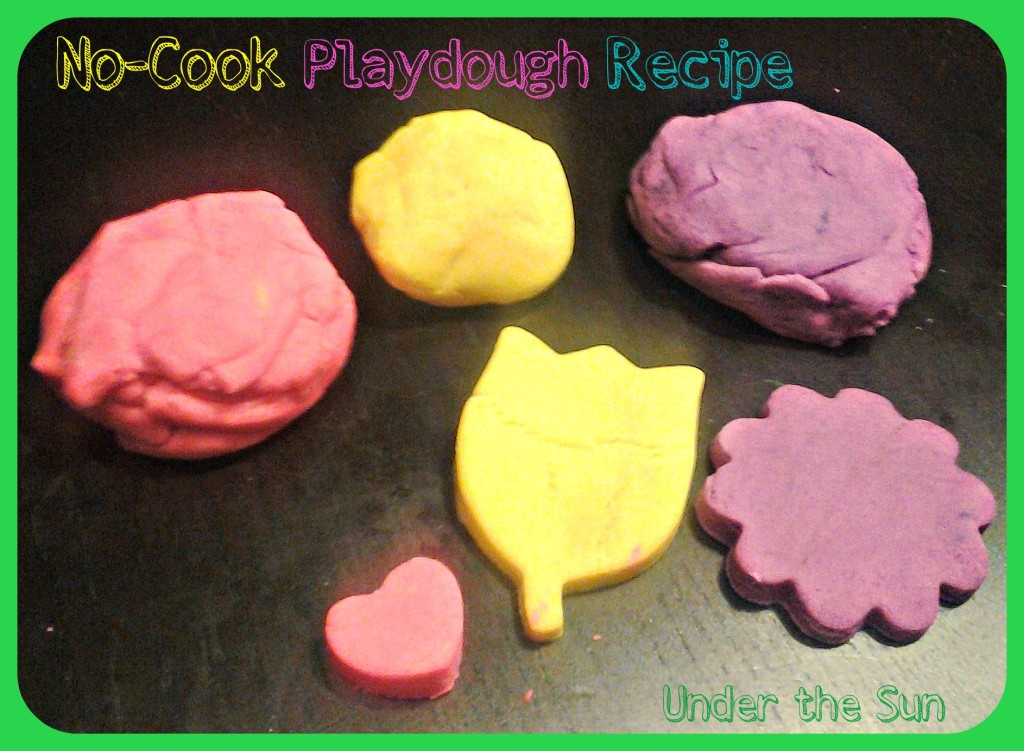 No-Cook Playdough Recipe